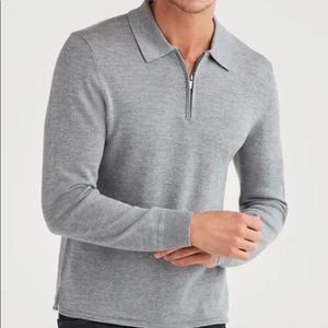 7 For All Mankind Grey  Merino Wool Polo